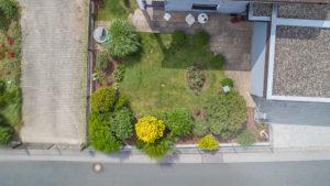 Drohnen Luftaufnahmen Garten